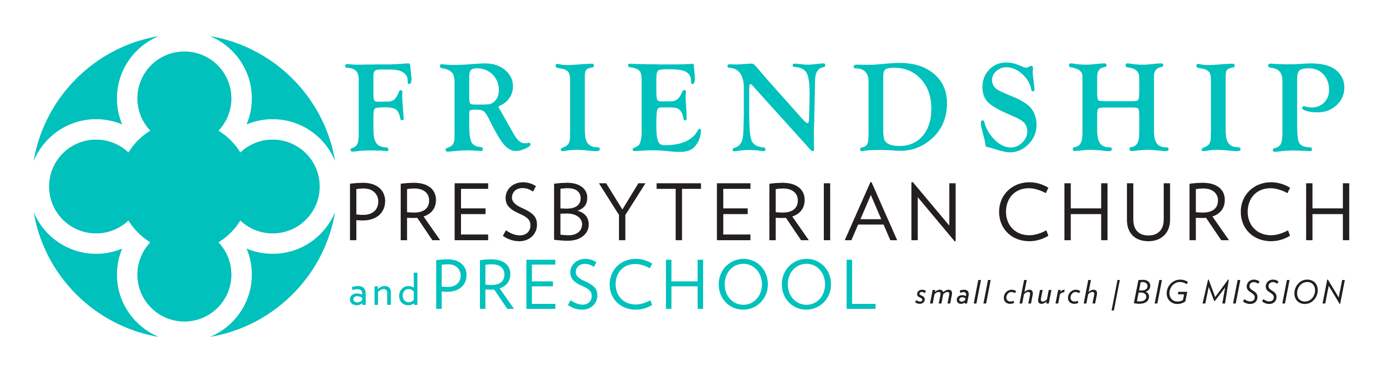 Friendship Presbyterian Preschool - Logo with black text - High Res for Print